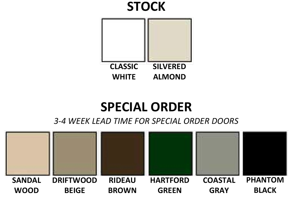 Retractable Screen Color Options