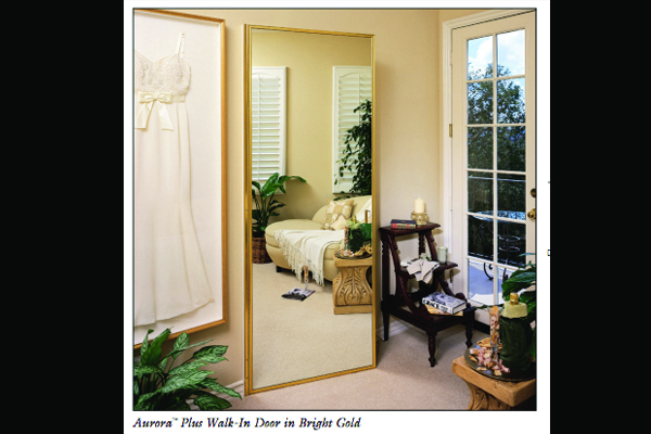 Aurora Plus Walk-In Hinged Wardrobe Mirror Doors