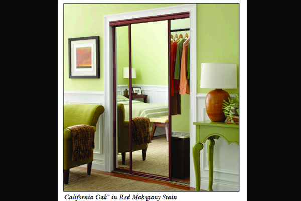 California Oak Wardrobe Mirror Doors