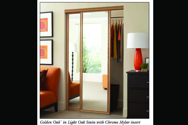 Golden Oak Wardrobe Mirror Doors