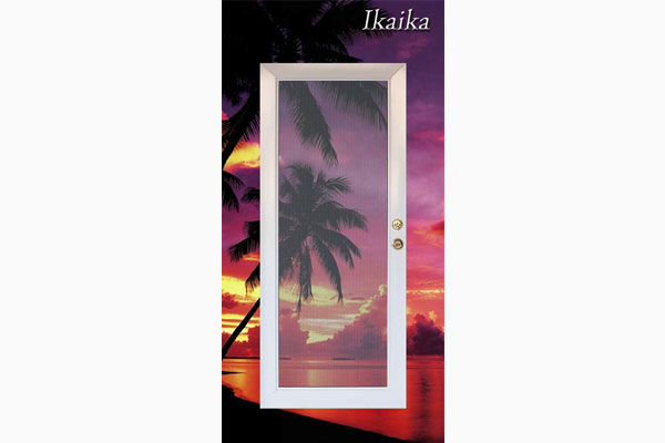 Ikaika Hinged Security Screen Door