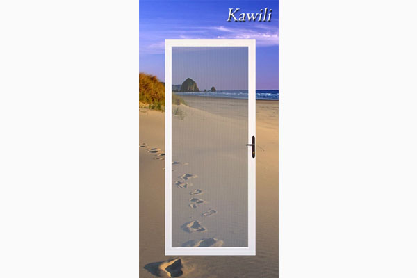 Kawili Hinged Security Screen Door