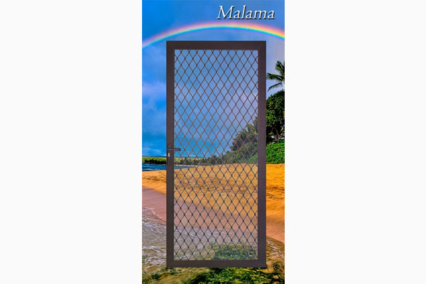 Malama Hinged Security Screen Door
