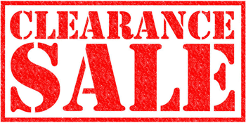 Clearance Items for Sale